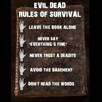 EVIL DEAD ~ The Rules