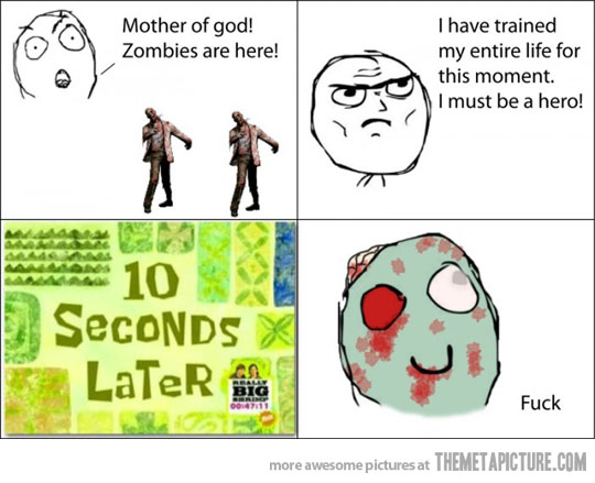 Funny Memes About Zombies : Survival the bloody book ger