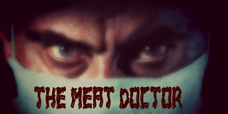 The face - a horror movie villain. The font - bacon. Awesome.